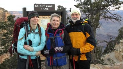 Cate, Ann and Greg Zielinski at the Grand Canyon.
