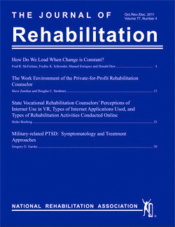 Cover of the Journal of Rehabilitation