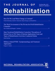 Journal of Rehabilitation cover