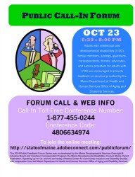 Download the Public Call-in Forum information (PDF)