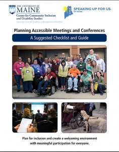Planning Accessible Meetings and Conferences: A Suggested Checklist cover