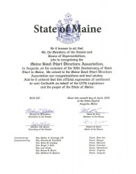 Head Start Recognition by State of Maine Legislature