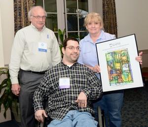 Alan Kurtz, Avery Olmstead with Sandra Olmstead.