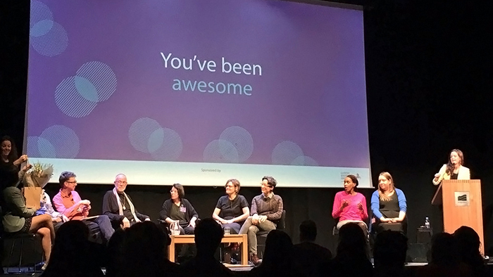 Gilson and DePoy (seated center-left) at Designable 2016 in London.