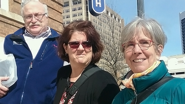 Alan Kurtz, Susan Russell and Betsy Humphreys in Birmingham, AL.