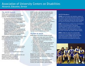 Download the AUCD brochure here.