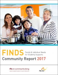 Download the Family & Individual Needs for Disability Supports (FINDS) Community Report 2017 (PDF) here.