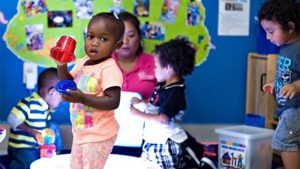 Children playing at their daycare center.