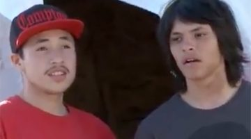 Two young men from Pine Ridge School featured in the Dream Out Loud video.
