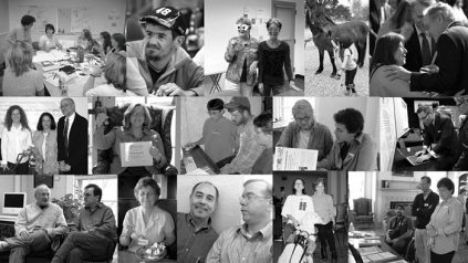 Photo collage of CCIDS employees, past and present.