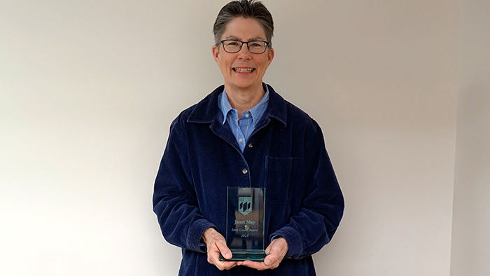 Janet May with the Steve Gould Award - 2019