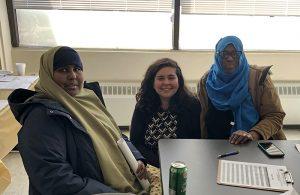 Khadija W., trainee Crystal Cron and Sirad G.
