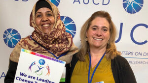 Hibo Omer and Marnie Morneault at the 2019 AUCD conference.