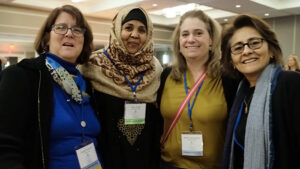 Susan Russell, Hibo Omer, Marnie Morneault and Debra Vigil, Co-Director of NV LEND at AUCD 2019.
