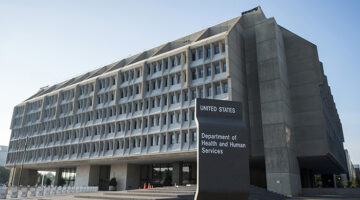 U.S. Department of Health and Human Services' office building in Washington, DC.