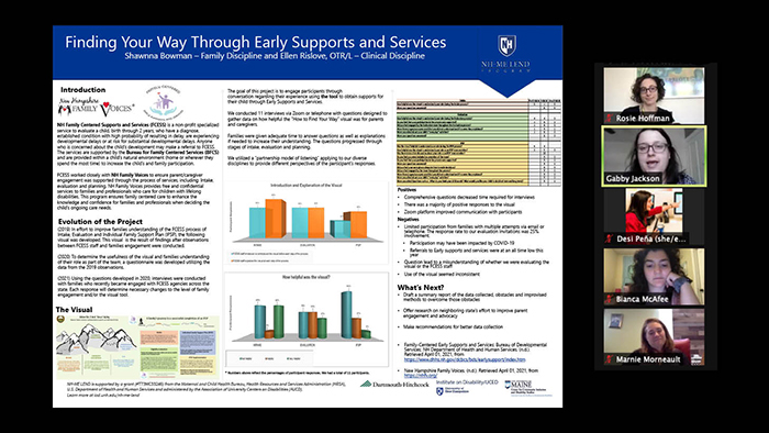 Screenshot of a trainee's poster being discussed in a virtual poster session.